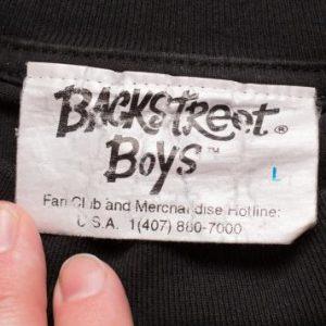 1995 Official Backstreet Boys 3D Logo T-Shirt, Pop Boy Band