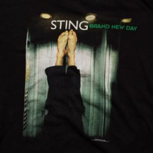 Sting Brand New Day T-Shirt, Barefoot, Vintage 90s Rock 1999