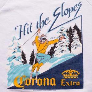 "80s Corona Extra Beer ""Hit the Slopes"" Ski Sweatshirt Skiing"