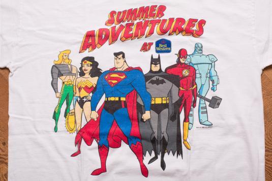 DC Comics Best Western T-Shirt Superman Batman Wonder Woman