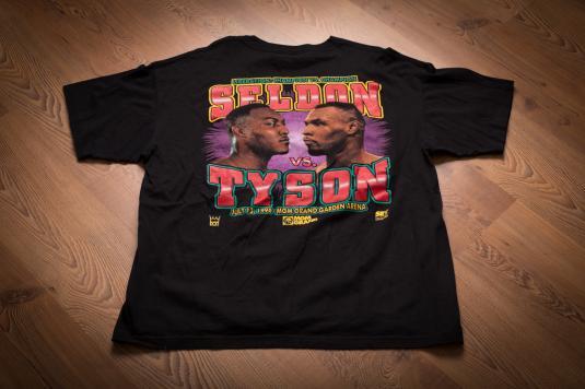 Vintage 90s Mike Tyson vs. Bruce Seldon 1996 Boxing T-Shirt