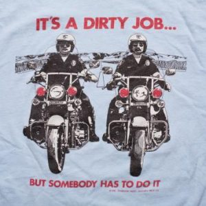 Vintage 80s Police Officers on Kawasaki Motorcycles T-Shirt