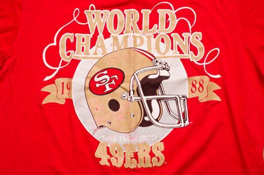 Vintage 80s San Francisco 49ers 1988 World Champions T-Shirt