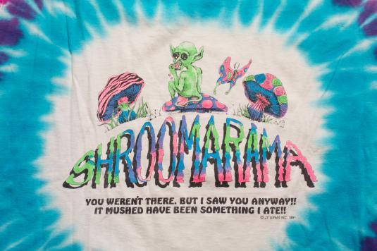 Vintage 90s Shroomarama Psychedelic Magic Mushroom T-Shirt
