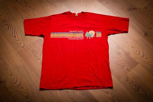 Vintage 80s Boy Scouts T-Shirt, Treasure Island Camp BSA
