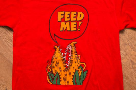 """Vintage 80s Little Shop of Horrors """"Feed Me!"""" Movie T-Shirt"""