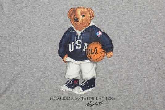 Vintage 90s Ralph Lauren Sport Polo Bear USA Basketball T-Shirt