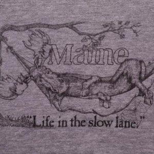 Maine Moose Sweatshirt, Hipster Animal Relaxing in Hammock