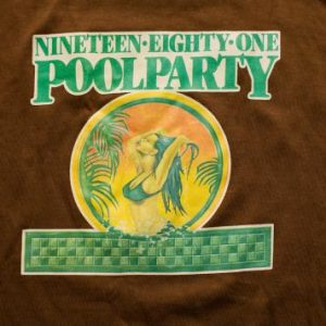 1981 Holiday Inn Pool Party Ringer T-Shirt Sexy Bikini Woman