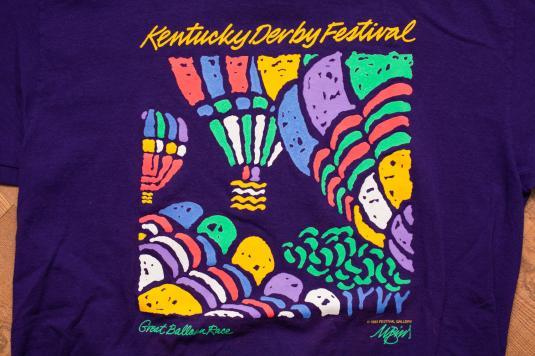 Vintage 90s Kentucky Derby Festival T-Shirt, Great Balloon Race