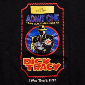 Dick Tracy Movie T-Shirt, Loews Harvard Square Opening Night