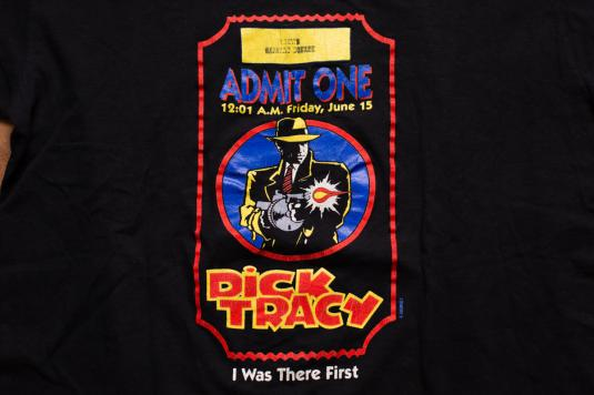 Dick Tracy Movie T-Shirt, Loews Harvard Square Opening Night