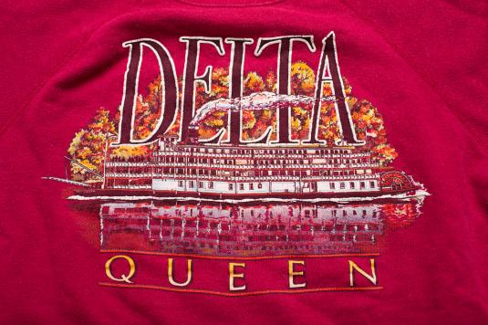Vintage 80s Delta Queen Mississippi Steamboat Sweatshirt