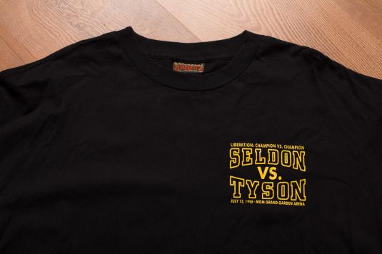 Vintage 90s Mike Tyson All Fired Up '96 Boxing Match T-Shirt