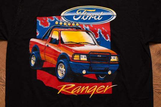 Ford Ranger XL Truck T-Shirt, USA American Flag, 90s Vehicle
