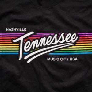 Vintage 80s Nashville, Tennessee Rainbow T-Shirt, Music City