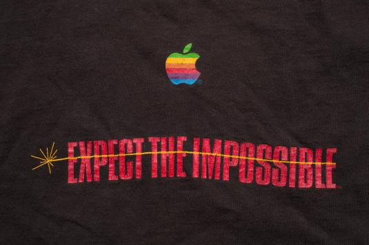 Vintage 90s Apple Expect the Impossible (Mission) T-Shirt, Mac Computers