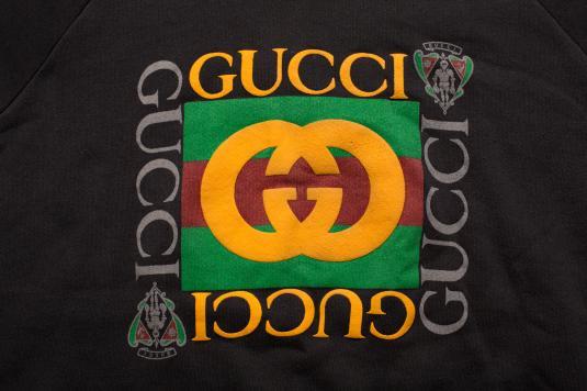 Vintage 90s Gucci Crewneck Sweatshirt, XL Hip Hop Apparel