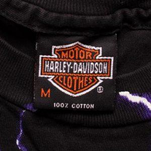 Harley-Davidson Thunder & Lightning T-Shirt, M Vintage 1990s