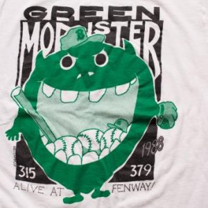 1988 Green Monster Fenway Park T-Shirt, Boston Red Sox