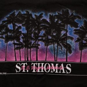 St. Thomas Sunset T-Shirt, Palm Trees, US Virgin Islands