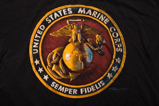 Vintage United States Marine Corps T-Shirt, USMC Semper Fi