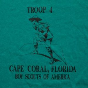 Vintage 90s Boy Scouts of America Troop 4 T-Shirt, Thin 50/50