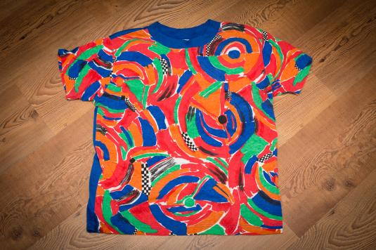 Vintage 90s Bright and Loud Design Traffic Jam T-Shirt