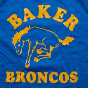 Baker Broncos T-shirt, ELM School Team Mascot, Bucking Horse