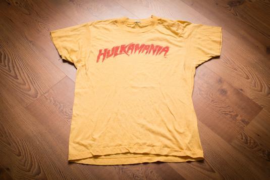 Hulkamania T-Shirt, WWF Hulk Hogan Wrestler, Screen Stars