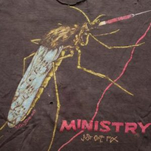 Pushead Ministry Just One Fix T-Shirt, Heavy Metal, Trashed