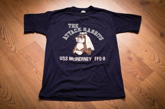 USS McInerney FFG-8 T-Shirt, Attack Rabbits, Arab Keffiyeh