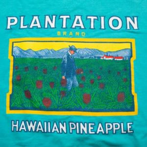 Vintage 80s Plantation Brand Dole Hawaiian Pineapple T-Shirt