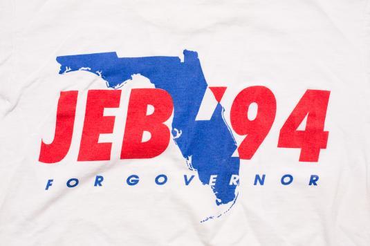 Vintage 90s Jeb Bush for Florida Governor '94 T-Shirt