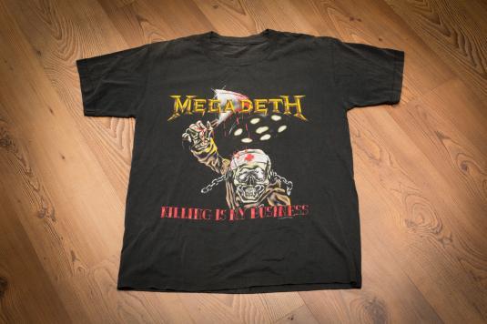 "Vintage 80s Megadeth ""Killing Is My Business"" Tour T-Shirt"