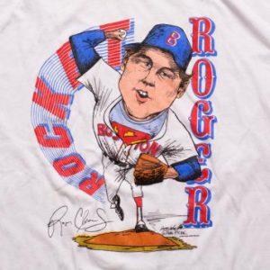 Rocket Roger Clemens Ringer T-Shirt, 1986, Boston Red Sox