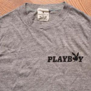 Playboy Bunny Logo Muscle Shirt, Rayon Tri-Blend, 70s-80s