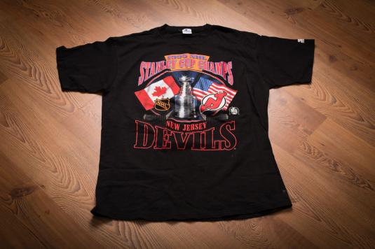 Vintage New Jersey Devils '95 NHL Stanley Cup Champs T-Shirt