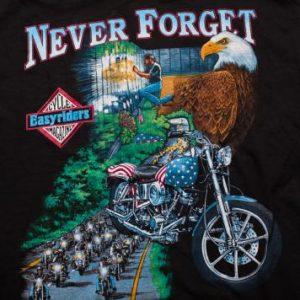 Easyriders Motorcycle T-Shirt Vietnam Veterans Memorial Wall