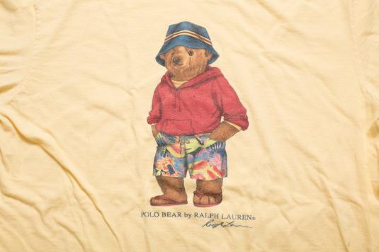 Vintage 90s Ralph Lauren Sport Beach Polo Bear w/Hat T-Shirt