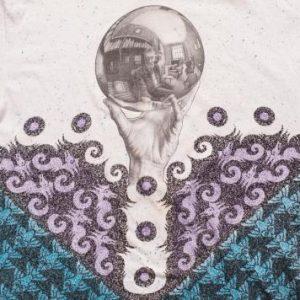 M.C. Escher Hand with Reflecting Sphere T-Shirt, 90s, MC