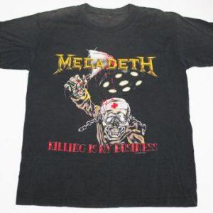 Vintage 1988 Megadeth Killing Is My Business T-Shirt, 50/50