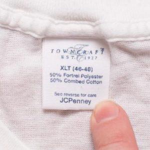 Towncraft Crewneck T-Shirt, M/L, See-Thru Thin 50/50 Tee 80s