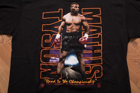 Vintage 90s Mike Tyson vs. Mathis 1995 Boxing Match T-Shirt