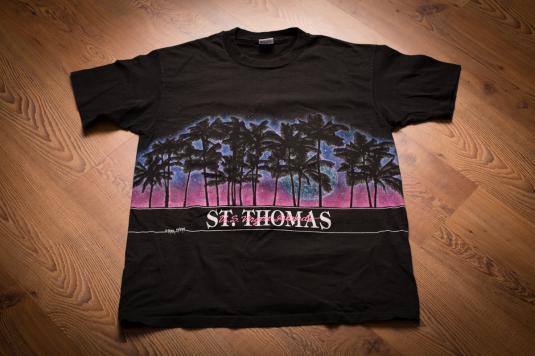 St. Thomas Sunset T-Shirt, Palm Trees, US Virgin Islands