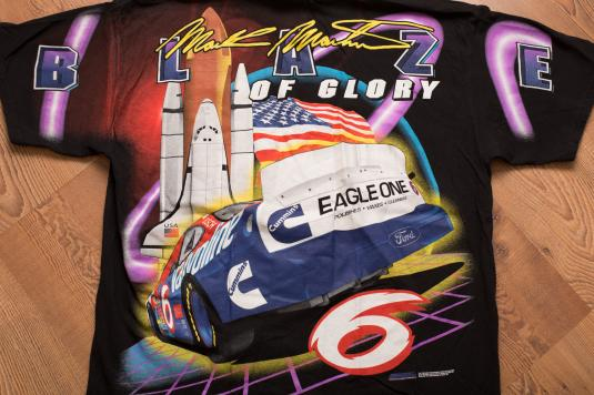 Vintage 90s Mark Martin Blaze of Glory Space Shuttle T-Shirt