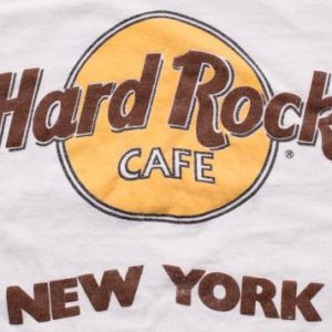 Hard Rock Cafe New York T-Shirt, NY Logo, Hanes Beefy-T