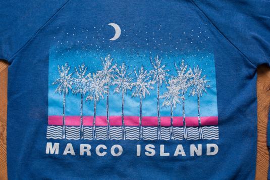 Vintage 90s Marco Island FL Crewneck Sweatshirt, Tropical