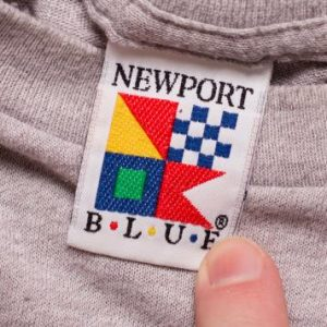 1987 Newport Blue T-Shirt, Nautical Flags Design, Sailing
