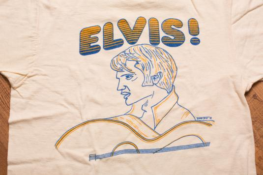 Vintage 70s ELVIS! with Guitar T-Shirt, '68 Comeback Special